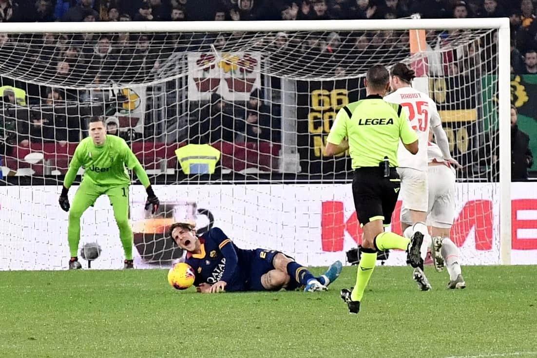 Nicolò Zaniolo infortunio Roma-Juventus