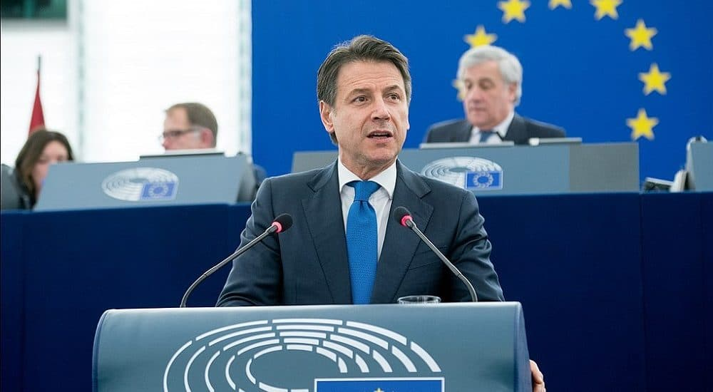 Giuseppe Conte - Foto European Parliament from EU CC BY 2.0