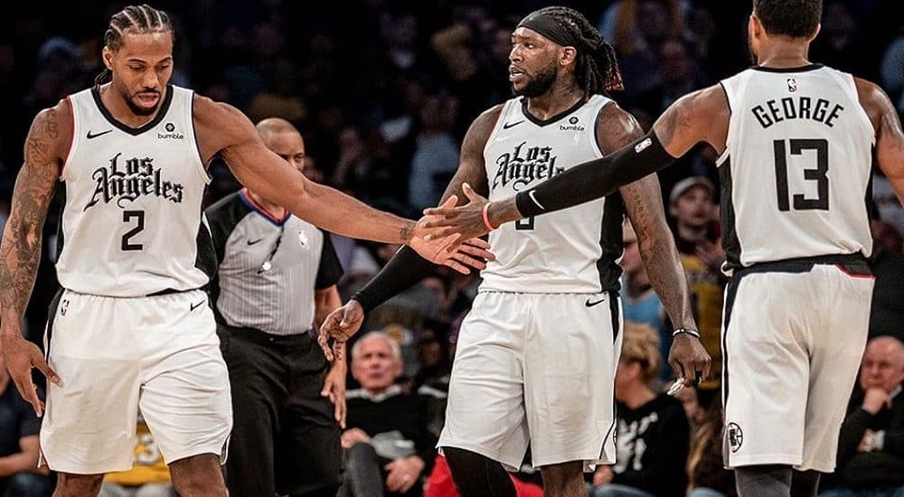 Kawhi Leonard, Paul George e Montrezl Harrell, Los Angeles Clippers Official Facebook Page