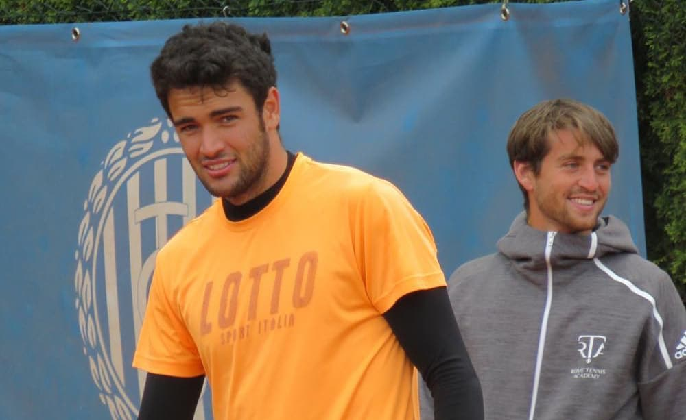 Matteo Berrettini e Marco Gulisano - Foto ATP 250 Monaco