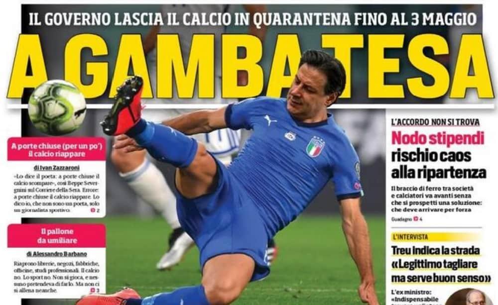 Prima Pagina Corriere Dello Sport Conte A Gamba Tesa Sul Calcio Foto