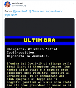 "Paola Ferrari |  gaffe incredibile |  ""Juventus ripescata in Champions League"" FOTO"