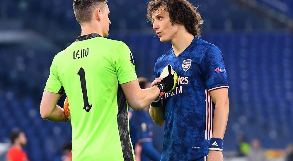 David Luiz e Bernd Leno - Foto Antonio Fraioli
