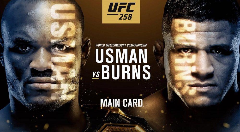 Kamaru Usman vs Gilbert Burns Ufc 258, locandina ufficiale