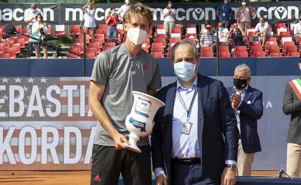 Sebastian Korda e Giammaria Manghi (Regione Emilia-Romagna) - Foto Marta Magni/MEF Tennis Events