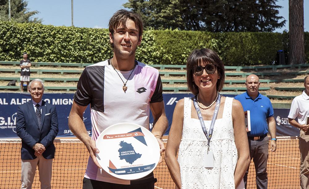 Tomas Martin Etcheverry e Stefania Mignini - Foto Marta Magni/MEF Tennis Events