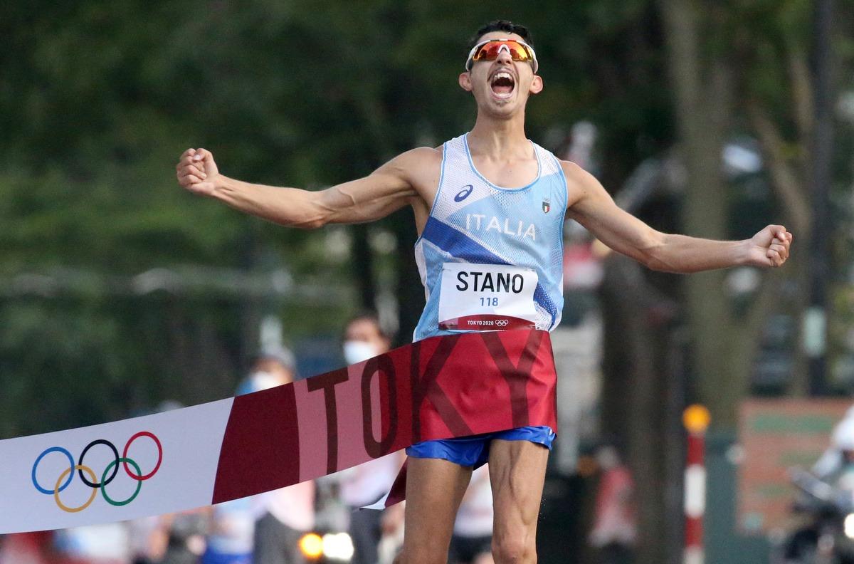 Massimo Stano medaglia d'oro Tokyo 2020 foto GMT