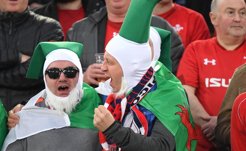 I tifosi del Galles all'Olimpico